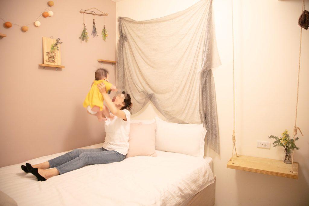 台湾子連れ旅行おすすめのホテル airbnb内装ベッドルーム