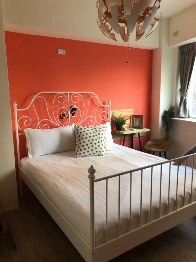 台湾子連れおすすめのホテル airbnb内装ベッドルーム